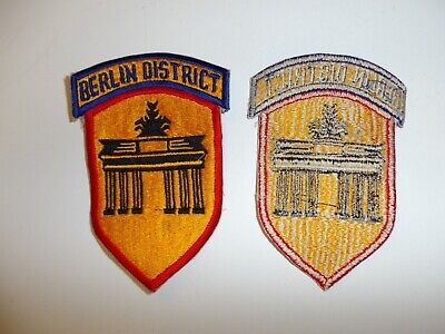 e3851 Post WW 2 US Army Berlin District patch/tab occupation R9B