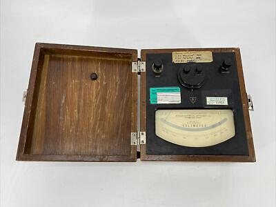 Rare Vintage Rawson 518 Ac Or Dc Electrostatic Voltmeter
