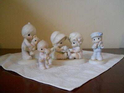 2 Enesco 2 Jonathan & David - Lot of 4 Precious Moments Figurines - EUC