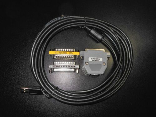 UC-100 USB Controller 15ft Double Shielded Cable & DB25 EMI Passthrough Filter