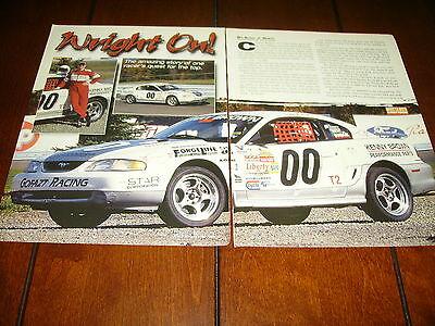 1997 FORD MUSTANG COBRA SVT RACE CAR ***ORIGINAL 1999 ARTICLE***