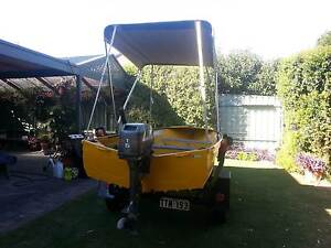 SAVAGE 3.7 METRE TINNY WITH MARINER 15HP MOTOR Hope Valley Tea Tree Gully Area Preview