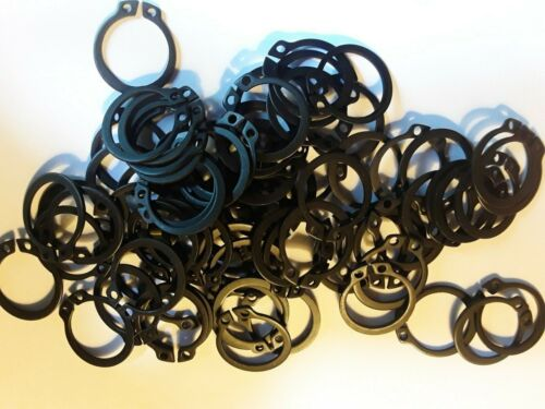 External Retaining Snap Ring, 19mm, DIN471, Steel Phosphate Finish DSH, 25 PACK