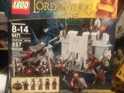 9471 lotr LORD OF THE RINGS LOT BATTLE OF HELM'S DEEP URUK-HAI ARMY CASTLE PART