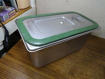 Polar Ware E12066 Steam Table Traypan Stainless Steel W Lid