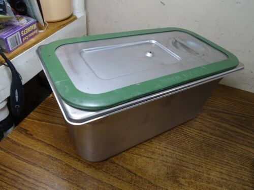 polar ware e12066 Steam table tray/pan Stainless Steel w/ lid
