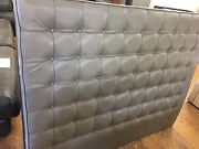 BRAND NEW Grey Upholstered Leather Queen Bed Head Revesby Bankstown Area Preview