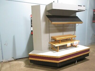 Kason 9261-lp Heavy Duty Commercial Lighted Open Vertical Bakery Display Case