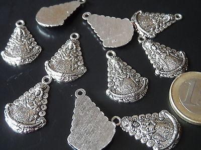 10 Colgantes Zamak Virgen del Rocío collares pulseras abalorios rociero (VR-02)