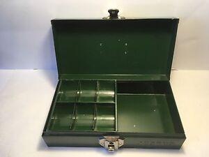 Metal change box with key