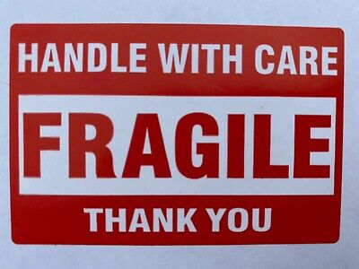 50 Fifty Fragile Handle With Care Stickers 2 X 3 Self Stick Shipping Labels