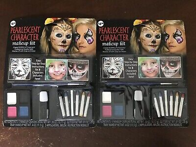 Lot Of 2 Halloween Costume Stage Make Up Kits Fairy Sugar Skull - Sugar Skull Halloween Makeup Kit