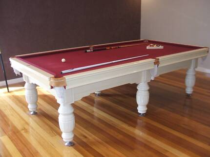 IMMACULATE CREAM COLOURED POOL TABLE FOR SALE