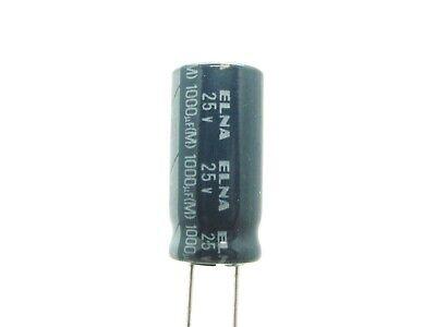 5x 1000uf 25v - Miniaturized Electrolytic Capacitor - Elna Re3-25v102m