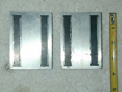 Two Aluminum Magnetic Blocks Support Holding Part Mill Drill Machine Tool