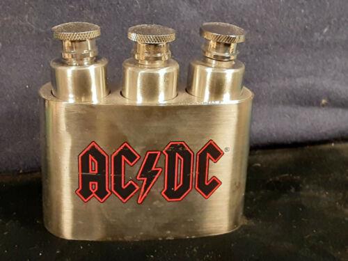 Rock and Roll Entertainment Memorabilia AC DC Three Flask Belt Buckle