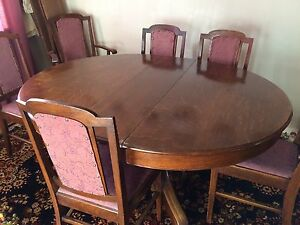 1920's Dining Room Table and Chairs