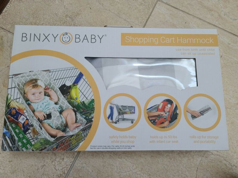 BINXY BABY Shopping Cart Hammock Holds All Car Seat Models Infant Carrier