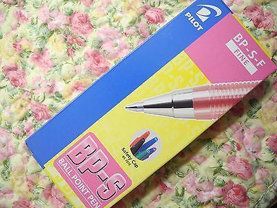 12 Pcs Pilot Bp-s 0.7mm Fine Ball Point Pen With Cap Pinkjapan