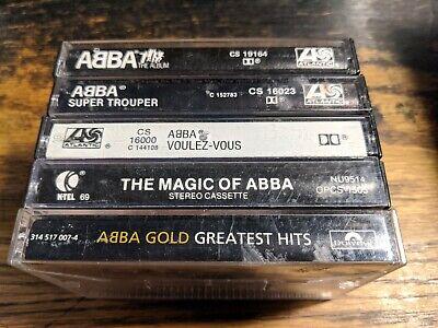 5 Abba Cassettes lot super trouper magic of the album voulez-vous greatest hits