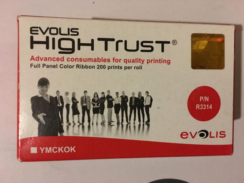 Evolis R3314 Full Color Ribbon 6 Panel YMCKOK 200 Print Quantum Dualys Securion