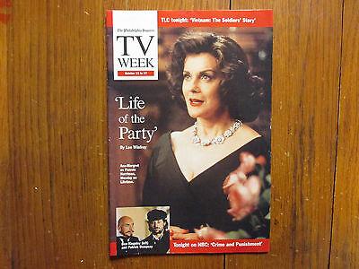 Oct. 11-1998 Philadelphia Inquirer TV Week Magazine(ANN-MARGRET/PAMELA HARRIMAN)