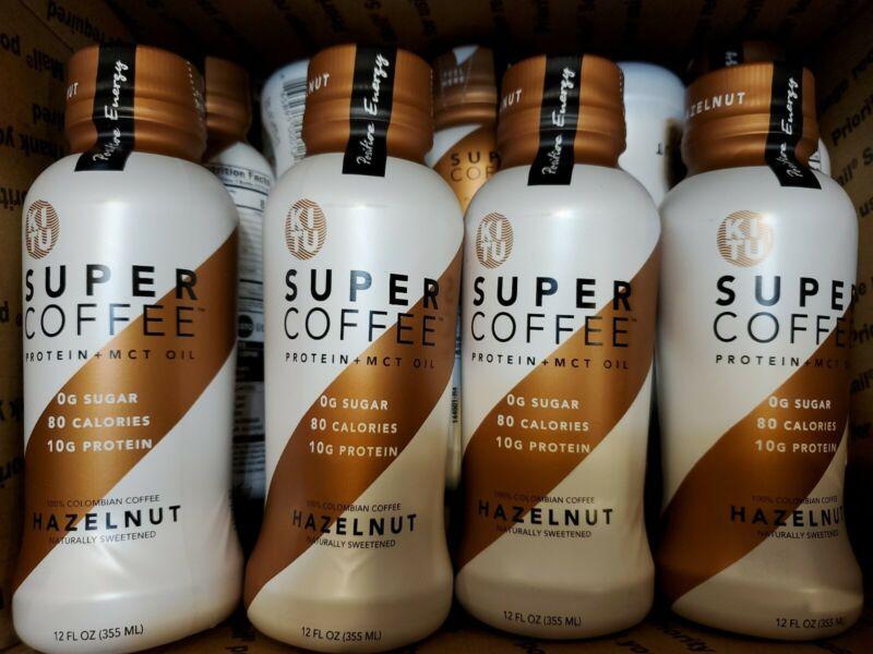 (SEE DETAILS) 10x Bottles Hazelnut Kitu Super Coffee Protein + MCT Oil 12FL OZ
