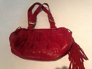 Red leather bag Warners Bay Lake Macquarie Area Preview