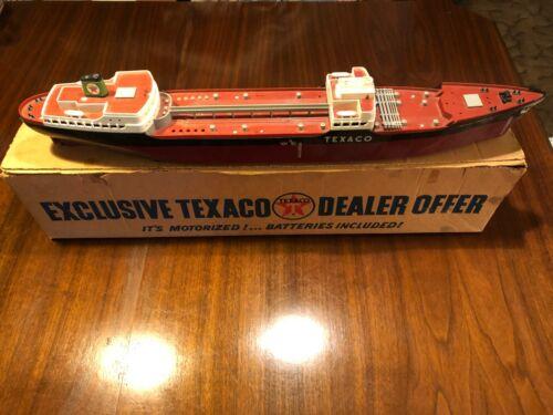 "1953 TEXACO WEN MAC BATTERY OP NORTH DAKOTA 27"" PROMO TANKER SHIP w NICE OB!!"