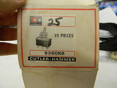 New Rare Cutler-hammer Dpst Toggle Switch 8360k6 3a 250v H2
