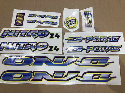 old school bmx decals stickers hotfoot set yellow and black on clear hi-ten