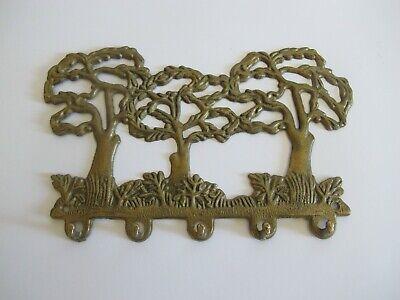 Möbelbeschlag Messing Garderobe Aufhängehaken für Schlüssel Bäume Motiv