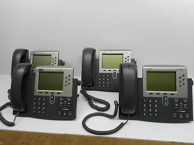 Lot Of 4 Cisco Internet Ip Business Phones Wstands 3 Model 7962  1 7961