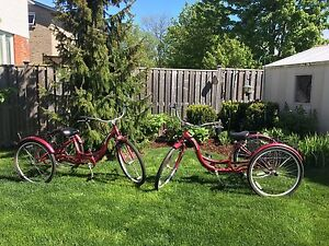 2 Adult Schwinn Tricycles/ 3-wheeled cruising Bicycles