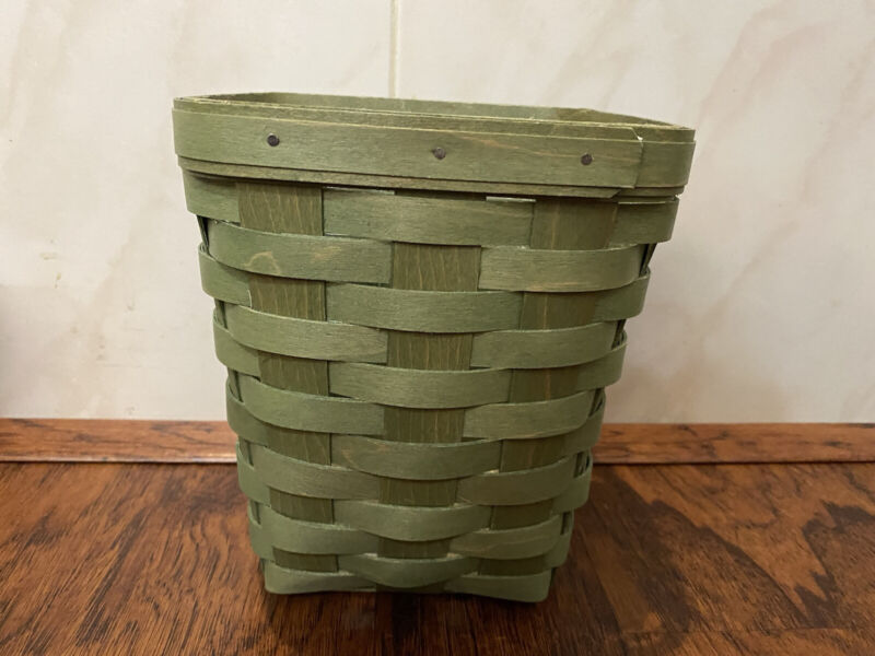 Longaberger 2015 Tall Basket Sage Green with Protector