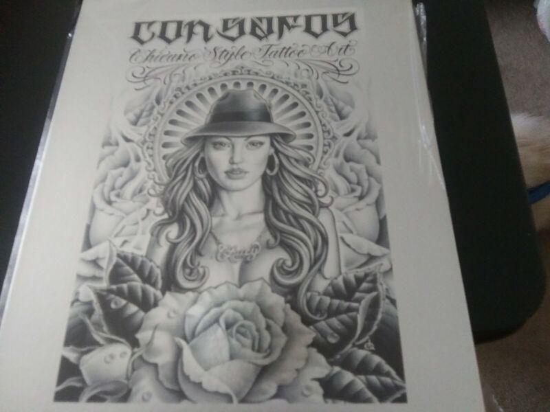 con safos chicano style tattoo art