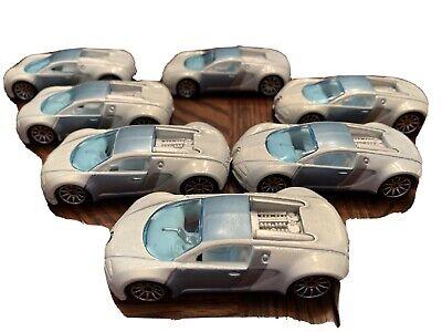 🔥HOT WHEELS🔥2007 Mystery Car Bugatti Veyron White Single Car!