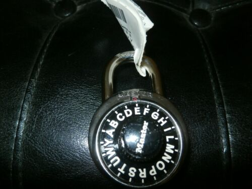 Master Locks Block Guard Padlock- Letter Combination
