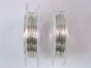 Beading Wire 28 Gauge 0.3mm 2 x 10m Rolls Silver Craft Jewellery FREE POSTAGE