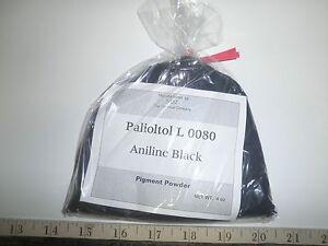 4-oz-BASF-Paliotol-Black-L-0080-ANILINE-DYE-PIGMENT-POWDER-Alcohol-Soluble
