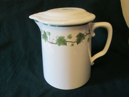 Harker Hotoven Pottery Pitcher With Lid Ivy Pattern 1930's-40's