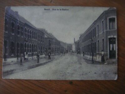 Très rare : NAAST ( Soignies ) Rue de la Station 1909