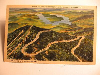 1930's Birdseye View of White Face Mountain Memorial Highway  - White Face Memorial
