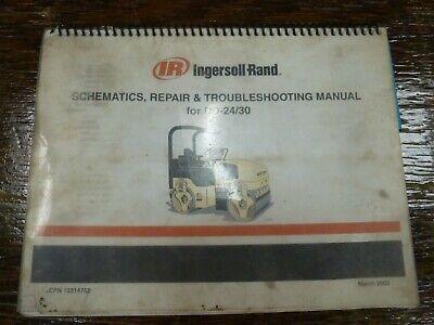 Ingersoll Rand Dd24 Dd30 Smooth Drum Roller Schematics Service Repair Manual
