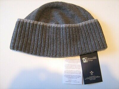 Johnstons Of Elgin Hat Beanie Made In Scotland, New with tags and Box.