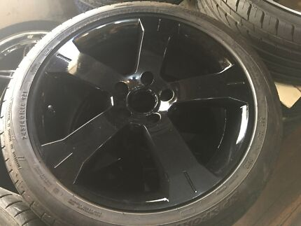 "18"" black Ford ba bf fg xr6 xr8 fpv wheels rims au"