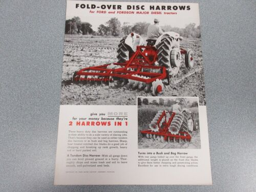 Ford Fold-Over Disc Harrows Sales Sheet    1955            lw