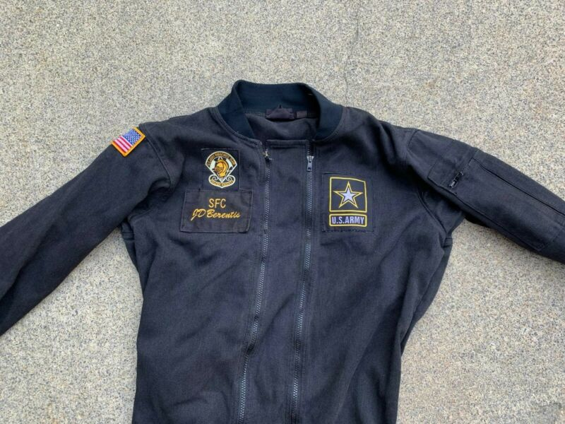 Us Army Golden Knight Parachutists Coverall Chest 44 Used With Patches Named