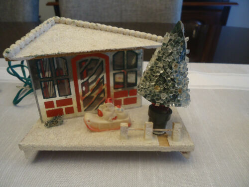 Vintage Japan Putz Lighted Christmas Village House MIRROR HOUSE ELECTRIC