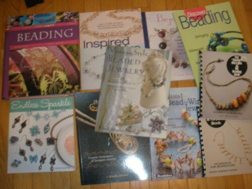 Lot of 10 Jewelry Making, Beading, Books EUC